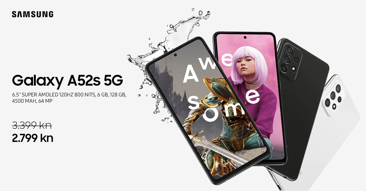 Samsung Galaxy A52s 5G već od 2.799kn