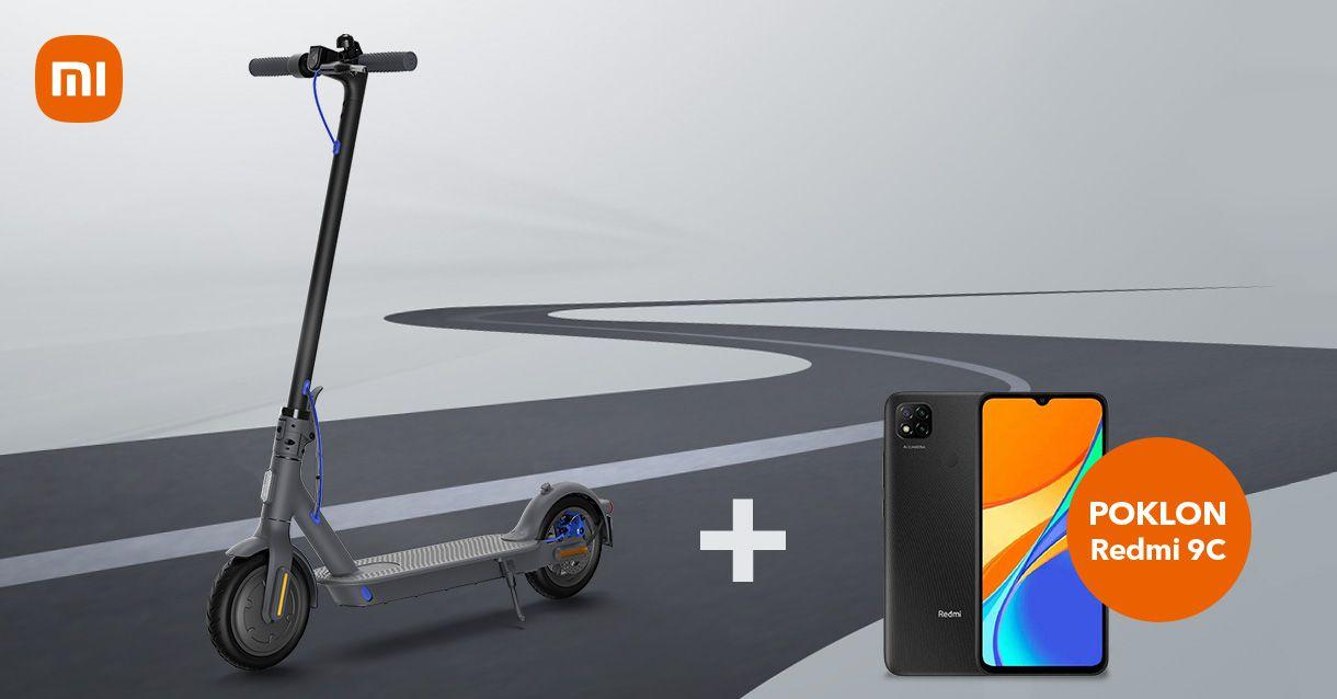 Mi Electric Scooter 3 uz  Redmi 9C na dar!