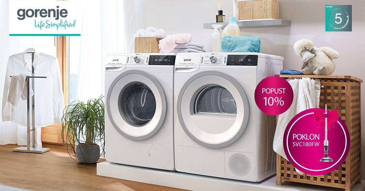 Kupi novu perilicu ili sušilicu rublja po super cijeni i uz odličan poklon!