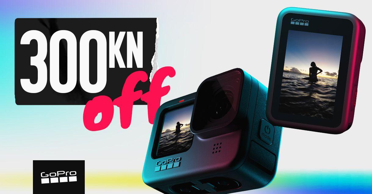 Uštedi 300kn na GoPro HERO 8 i 9 akcijskim kamerama