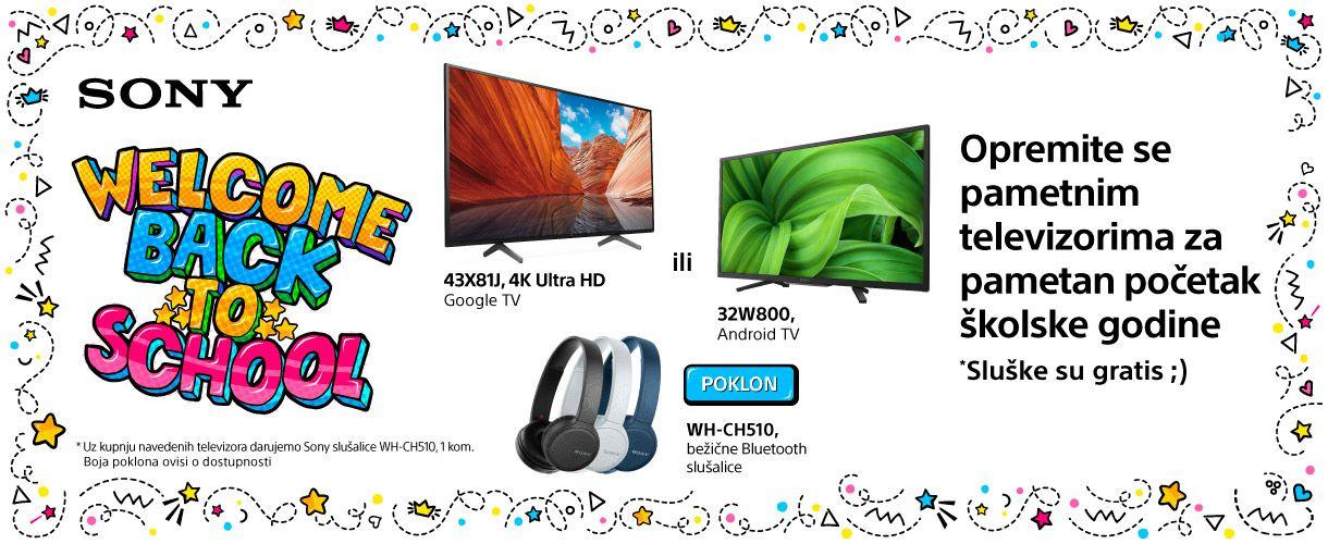 Sony pametni televizori uz slušalice na dar!