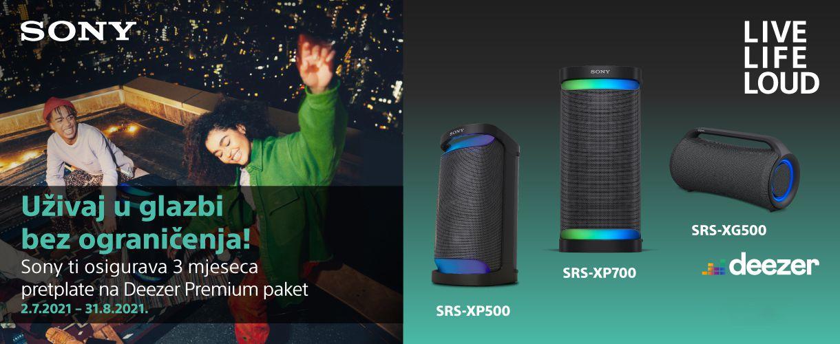 Novi Sony SRS-X zvučnici uz 3 mj. Deezer Premium pretplate